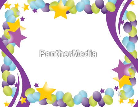marco del globo de celebracion con