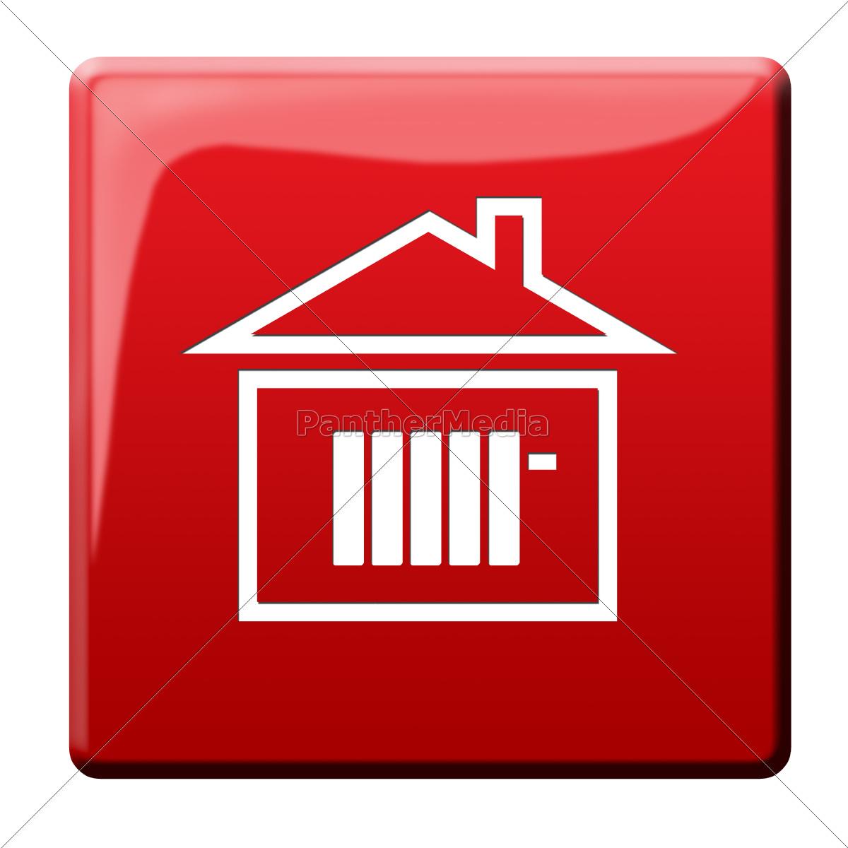 calefacción, cuesta, icono - 10186079