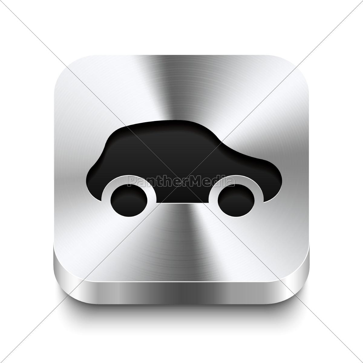 square, metal, button, perspektive, -, car - 10197223