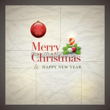 tarjeta de navidad retra