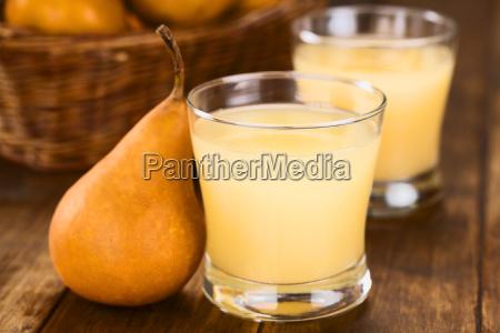 el jugo de pera