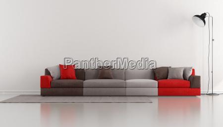salón, minimalista, con, moderno, colorido - 10202245