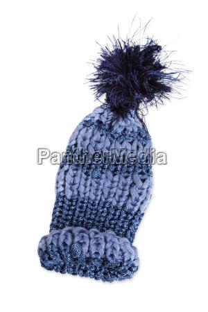 el sombrero hecho punto azul sombrero