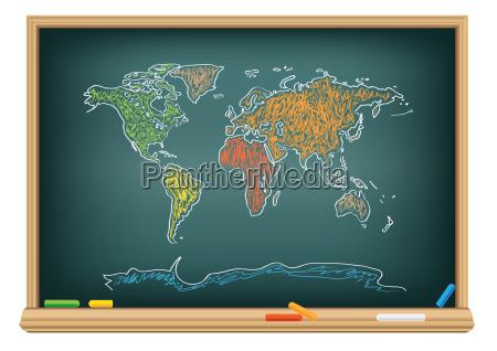 dibujando el mapa del mundo por