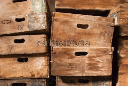 madera antiguo cosecha vendimia caja pecho