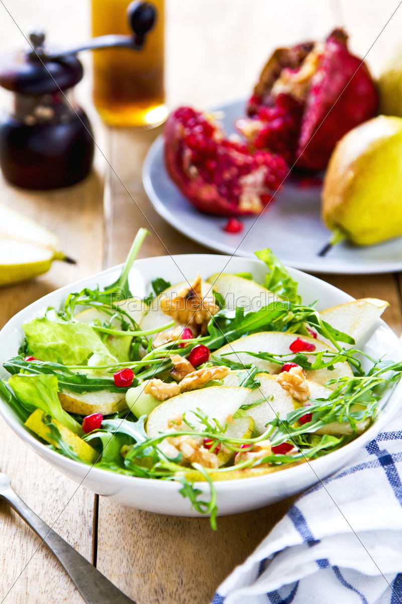 pear, with, pommegranate, and, rocket, salad - 10296483