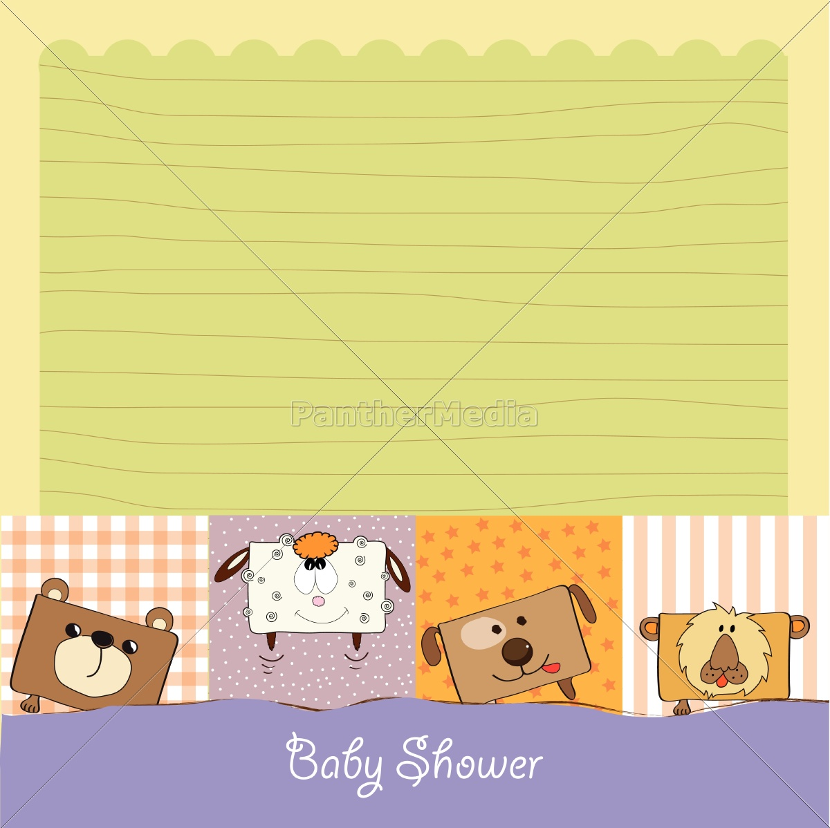 bebé, tarjeta, de, ducha, con, divertidos - 10309049