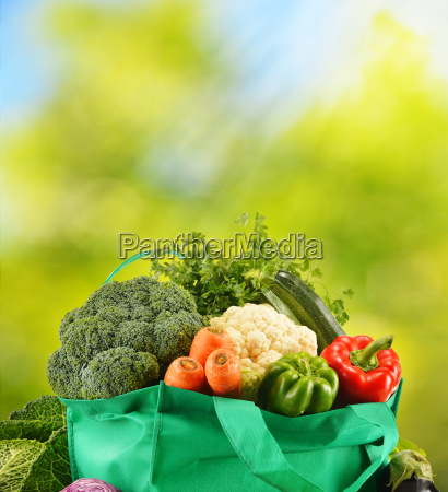 green, bag, with, variety, of, fresh - 10321311