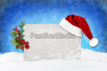 tarjeta de navidad azul nieve