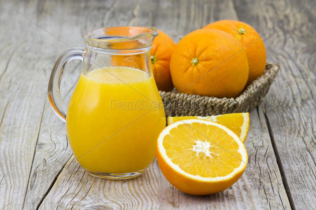 zumo, de, naranja, y, fruta, fresca - 10487865