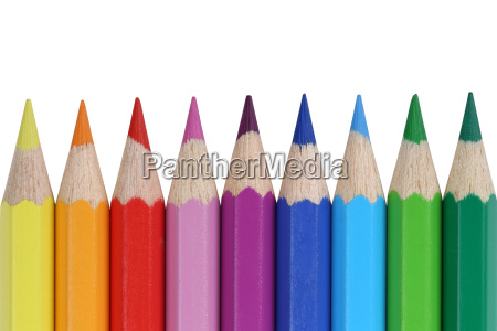 colored pencils for school isolated