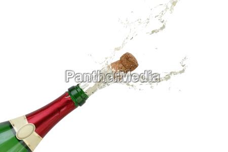 salpicaduras de champan en vispera de