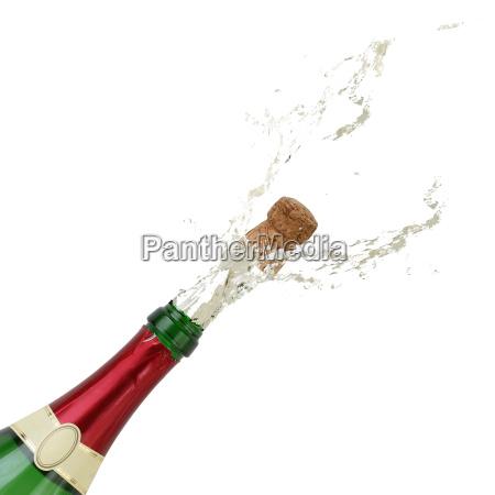 salpicaduras de champan en el anyo