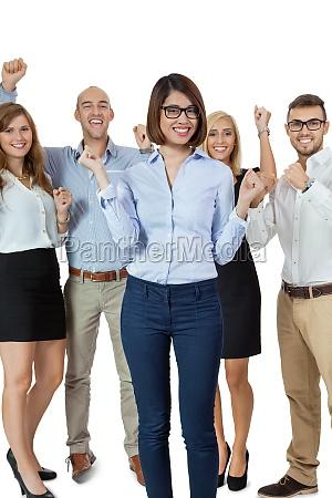 joven y exitoso equipo del grupo