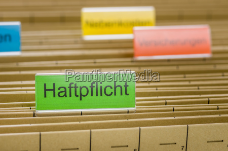 responsabilidad carpetas colgantes etiquetado