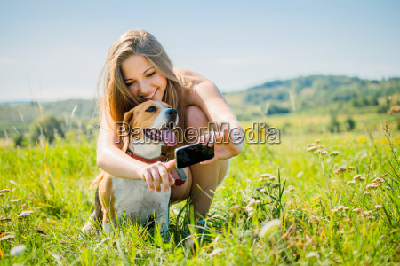 mujer mostrar adolescente mascotas animal de