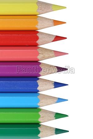 colored pencils theme school start of