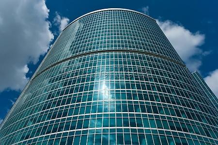 azul casa construccion torre vidrio vaso