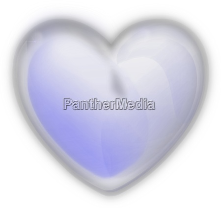 iced heart on a white background