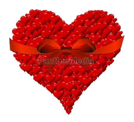 heart made of hearts for valentines