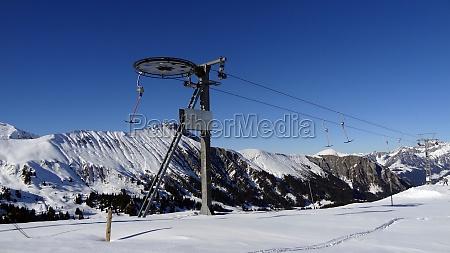 alpes pista de esqui esqui telesqui