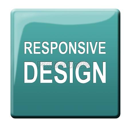 responsive design button