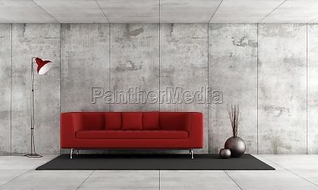 muebles interior hormigon sofa vacio minimalista