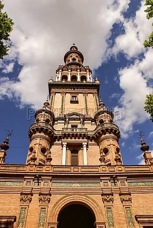 azul torre paseo viaje historico ciudad