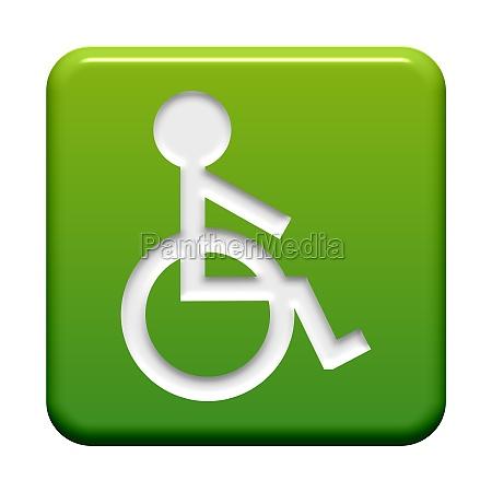 button green wheelchair symbol