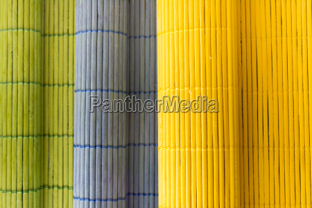 wooden color tablecloths rolled