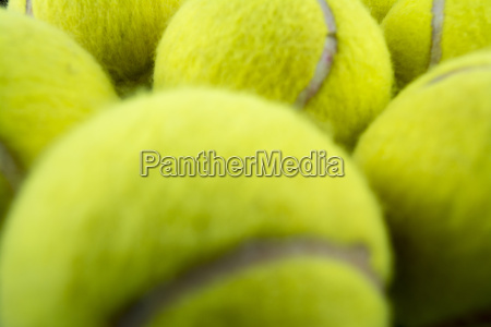 macro tennis balls