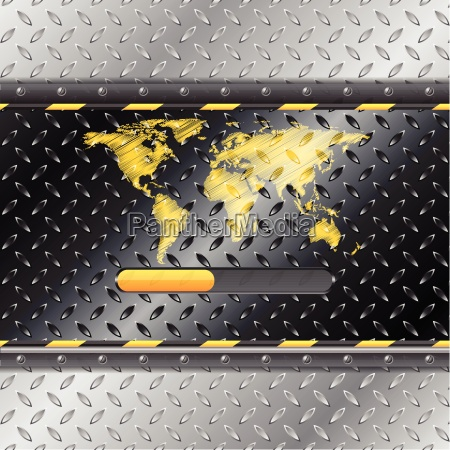 loading industrial interface with metallic plate