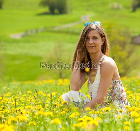 woman flower flowers plant spring may