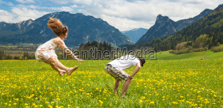 alps mountains ammergau alps meadow spring