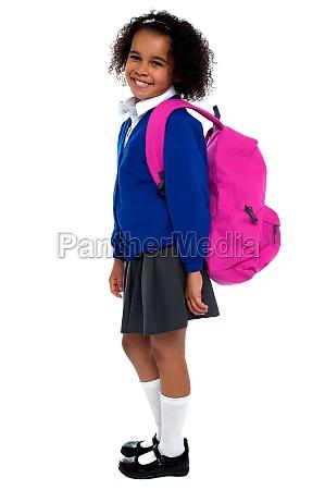 chica de escuela primaria de pelo