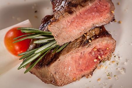 medium roast beef steak filet with
