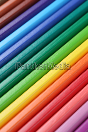 colorful crayons forming a background