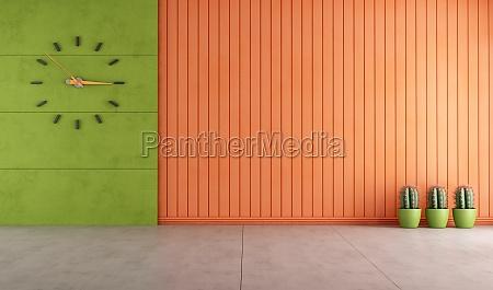 sitio vacio verde y naranja