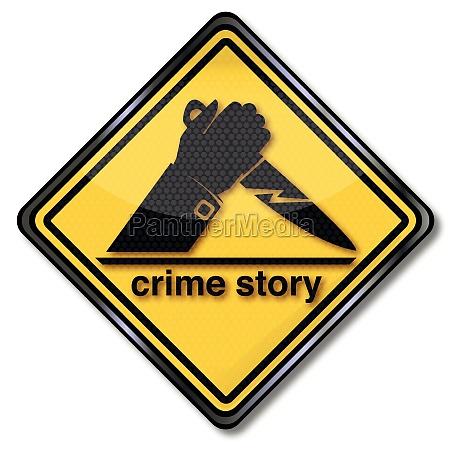 escudo de la historia del crimen