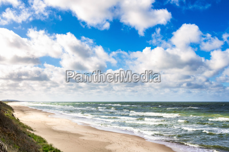 sand beach on baltic sea