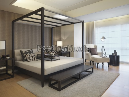 modern four post bed