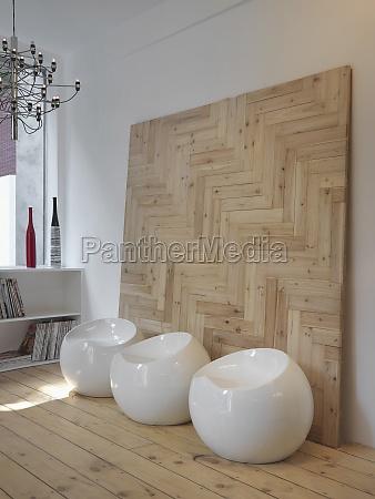 white modern stools