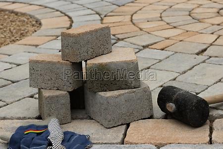 pavimento guijarro pavimentar infraestructuras