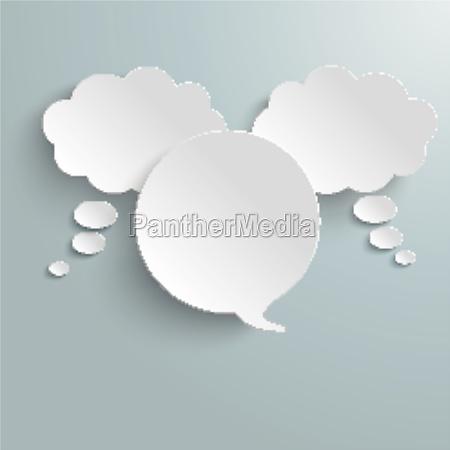 2 pensamiento blanco 1 discurso burbuja