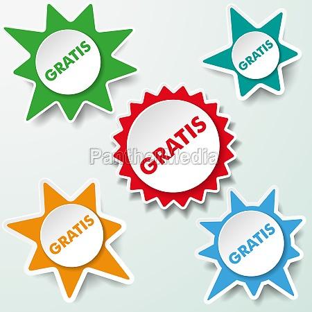 etiquetas estrella gratis