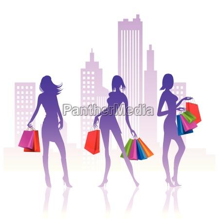 mujer mujeres moda dama compras silueta