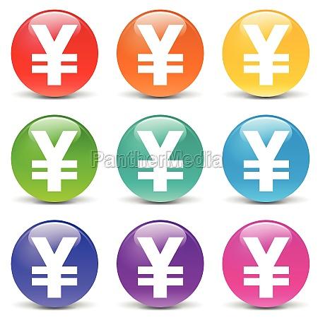 vector yen icons