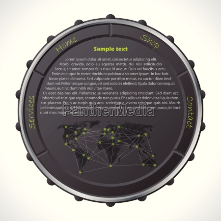 website template with ring like button