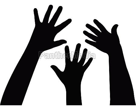 pidiendo ayuda vector de mano