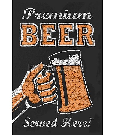 vintage brewery beer poster chalkboard